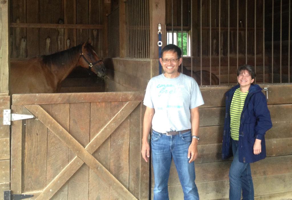 2014.06.withAlysounandhorses