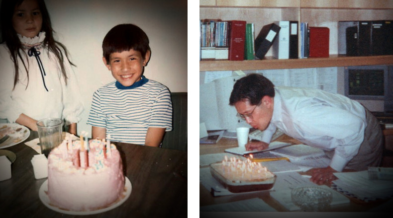 Greg birthday two photos